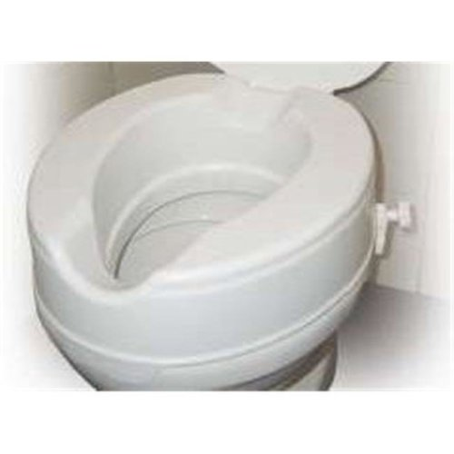 Drive Medical 12064 Raised Toilet Seat Without Lid - 4 Inches