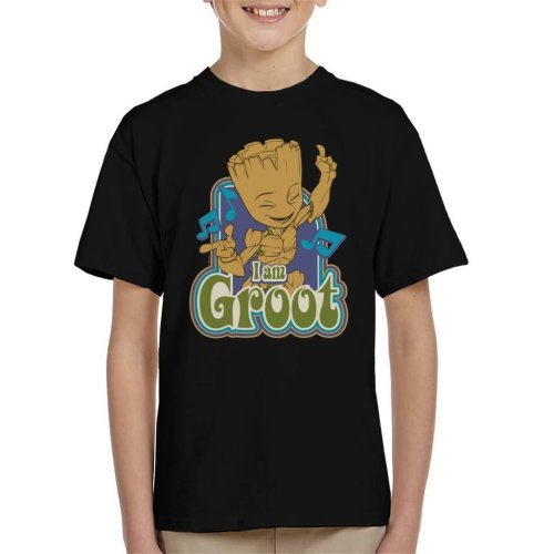 Marvel Guardians Of The Galaxy I Am Groot Dance Kid's T-Shirt