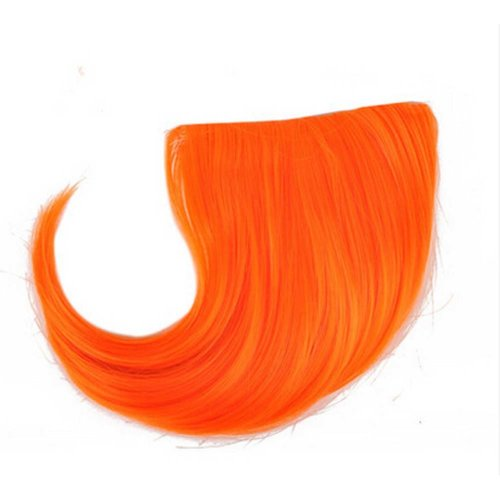 Colorful Wigs for Cosplay,Stage/Party Wig/Hair Bangs Wig, Orange