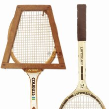 non-woven wallpaper XXL vintage tennis rackets