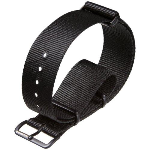ZULUDIVER® Nylon Watch Strap NATO Black 22mm