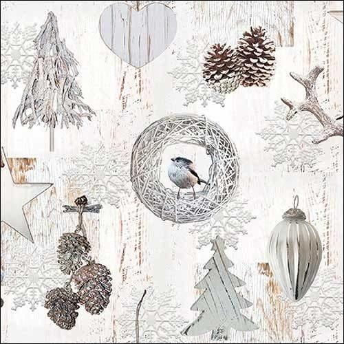 Ambiente 3 Ply Paper Napkins, White Decoration