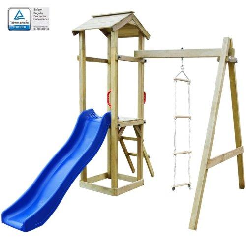 vidaXL Playhouse Set with Slide Ladders 237x168x218 cm FSC Wood