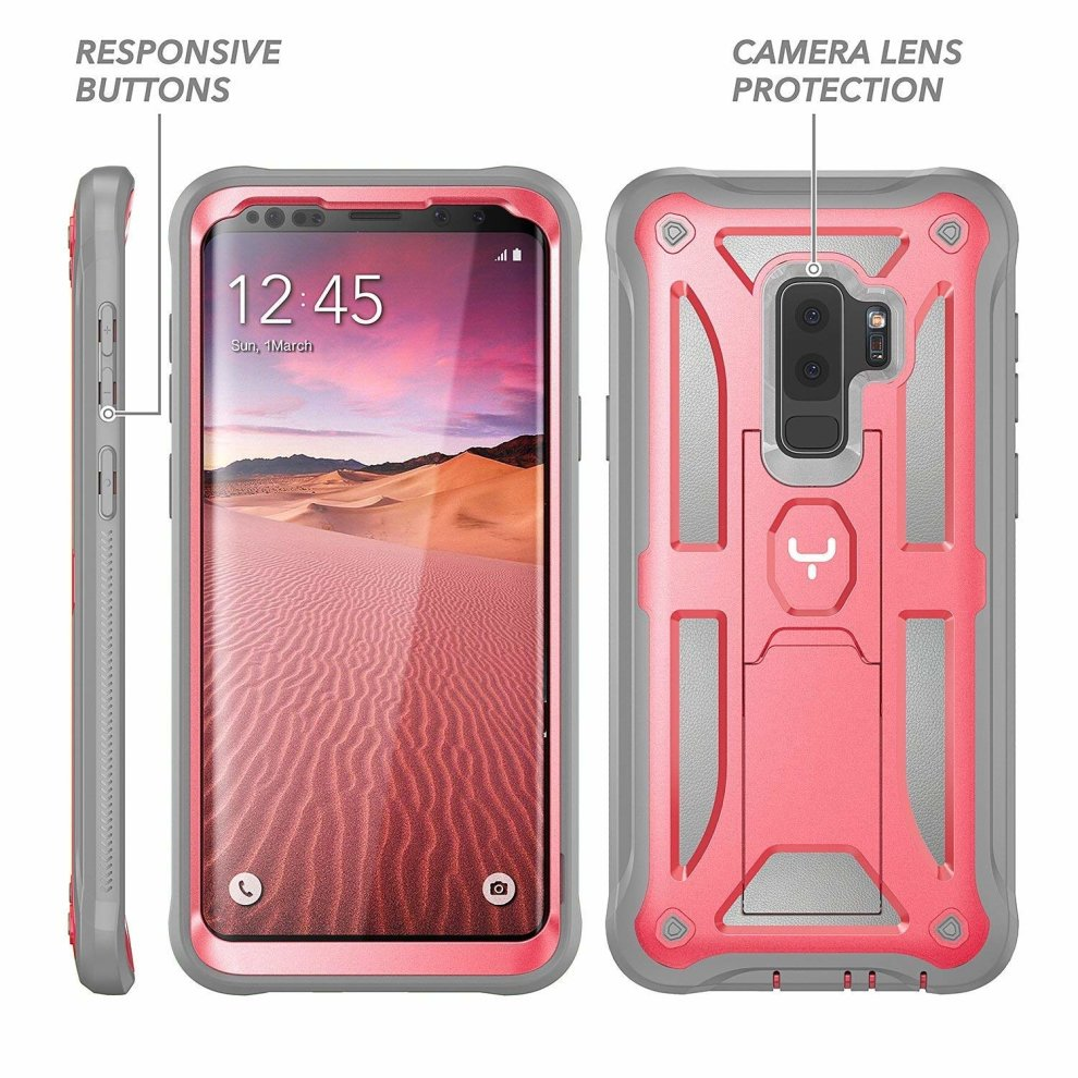 best website b5860 88040 YOUMAKER Galaxy S9+ Plus Case, Heavy Duty Protection Kickstand with  Built-in Screen Protector Shockproof Case Cover for Samsung Galaxy S9 Plus  6.2...