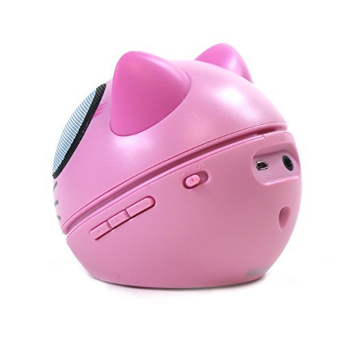 Zoo Tunes Compact Portable Bluetooth Stereo Speakers for MP3 Players Tablets Laptops etc Kitten