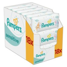 Pampers Sensitive Dermatologically Tested Baby Wipes - Pack of 18