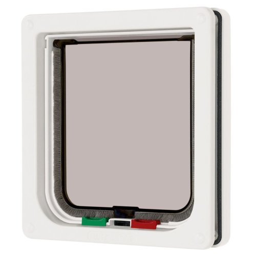 4 Way Locking Cat Flap White 16.5x17.4cm
