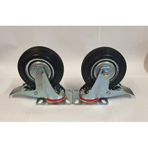 Set Of 2 Toolzone 4'' Swivel Castor With Brake Rm010b