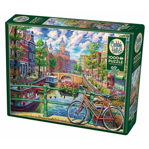 CBL80180 - Cobblehill Puzzles 1000 pc - Amsterdam Canal