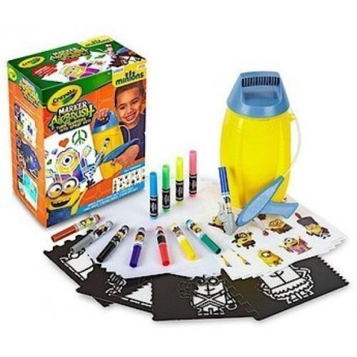 Despicable Me Crayola Minion Marker Airbrush Spray Art