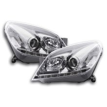 DRL Daylight headlight  Opel Astra H Year 2004-2009 chrome