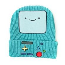 Adventure Time Unisex Beemo Video Game Console Cuffed Beanie - Turquoise