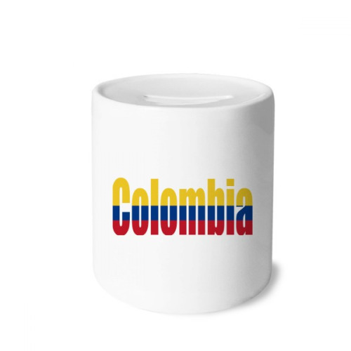 Colombia Country Flag Name Money Box Saving Banks Ceramic Coin Case Kids Adults