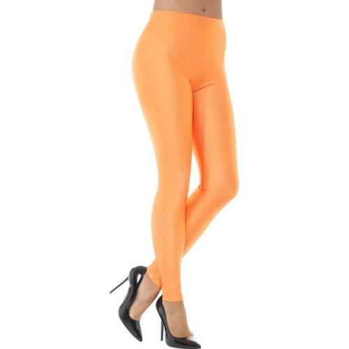 Smiffy's 48112s 80's Disco Spandex Legging (small) - Ladies 80s Leggings Womens -  ladies 80s disco spandex leggings womens neon fancy dress costume
