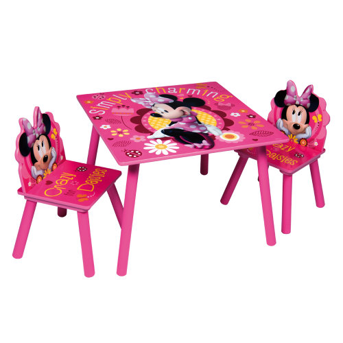 (Minnie Mouse) Children's Cartoon Character Table & Chair Set