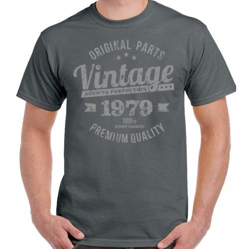 Vintage Year 1979 Premium Quality Mens 40th Birthday T-Shirt 40 Year Old Gift