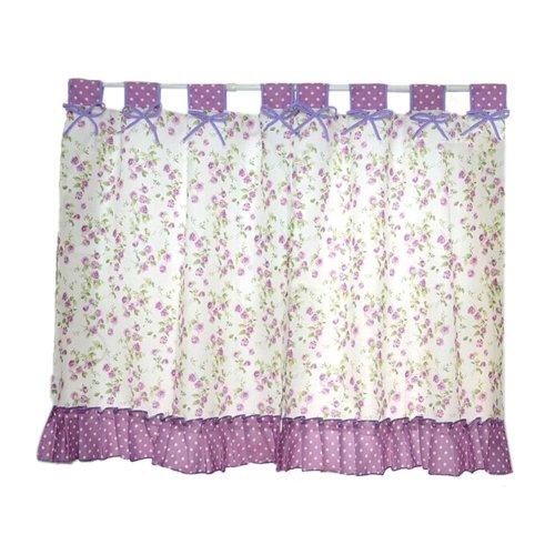 Set of 2 Pastorable Purple Floral Window Valance Window Curtains 130x80cm
