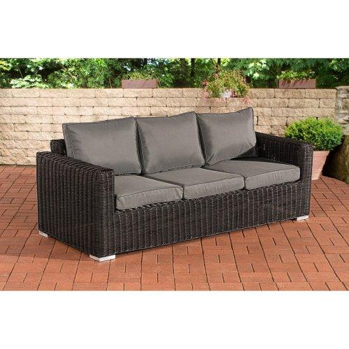 3 seater sofa Bilbao / Madeira ironGrey