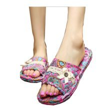 Classic Ladies Slippers,Elegant Flowers Style Slippers For Women