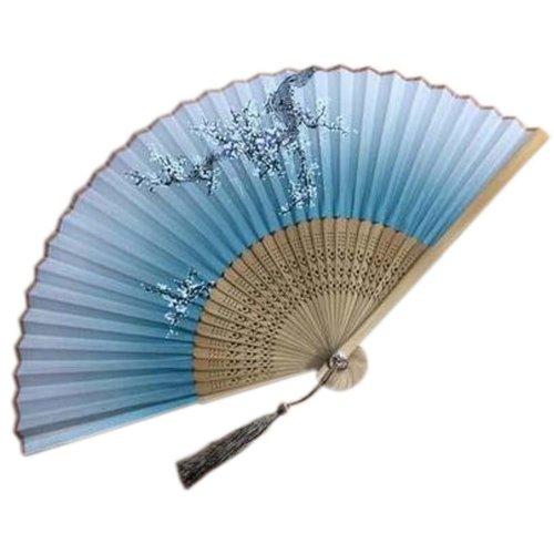 Silk Handheld Folding Fan Handheld Fan Aya Silk Folding Fan Chinese/Japanese