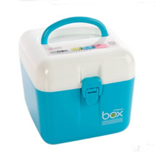 Portable Storage Box Durable Storage Container Medicine Chest,BLUE