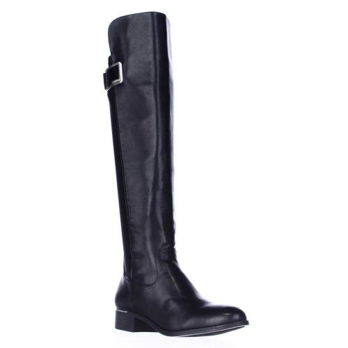 Calvin Klein Cyra Dress Back Stretch Riding Boots, Black, 3 UK