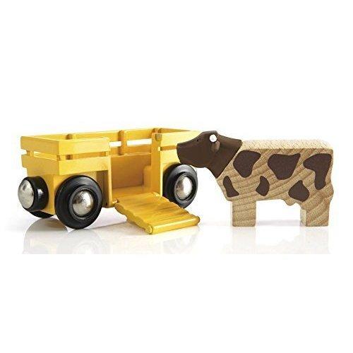 BRIO Farm Cow & Wagon