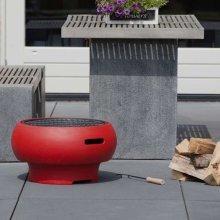 BBGRILL Portable Barbecue Red BBQ TUB-R
