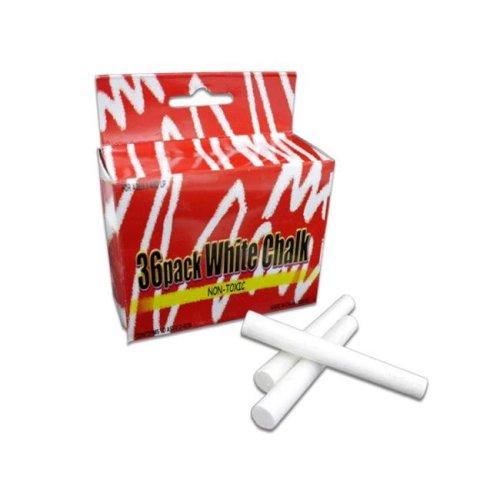 """Bulk Buys KK019-48 36 Pack 2-3/4"""" White Chalk - Pack of 48"""