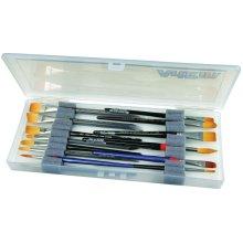 """ArtBin Brush Box-14""""X6""""X1.25"""" Translucent"""