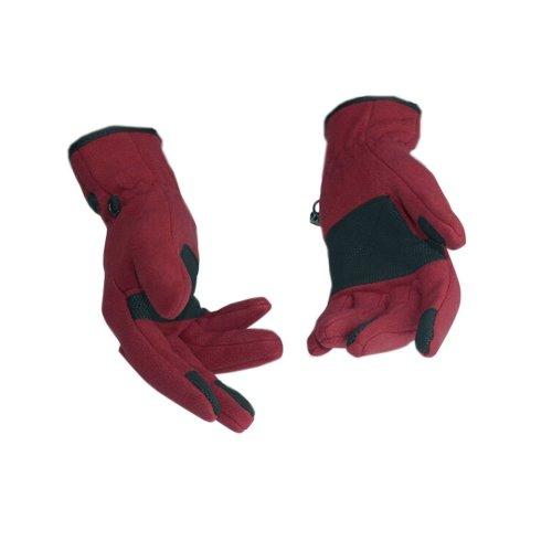 Cycling Glove Ski Glove Thick Glove Wine Red L(G-62)