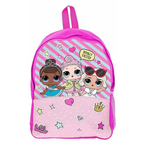 1f857b75b8 School Bag for Girls Pink Backpack LOL Dolls Confetti Pop Back to School  Essentials Rucksack for Girl on OnBuy