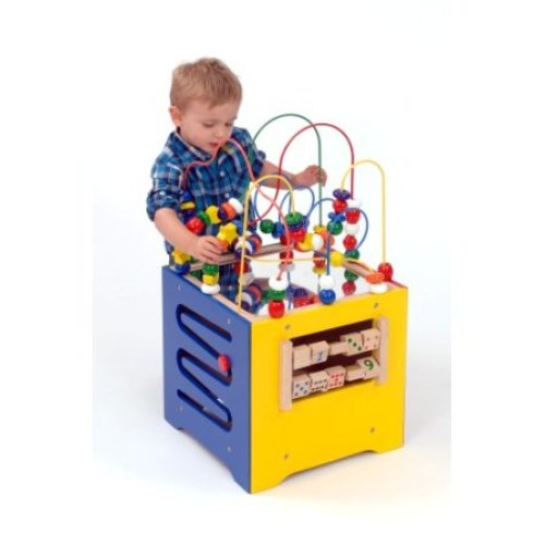Childrens Wooden Activity Combo Cube (A1499)