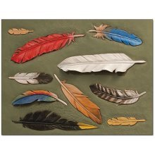 Feathers Leather Pattern Template -  feathers leather pattern template craftaid design leathercraft tandy 7663100