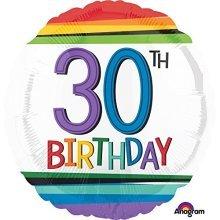 Rainbow Birthday 30th Standard Foil Balloons S40 -