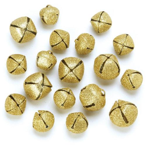Giltter Jingle Bells 18/Pkg-Gold Assorted