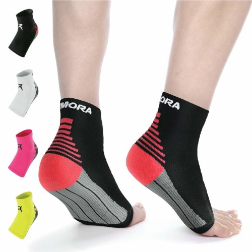 bae3ed0c7f Rymora Plantar Fasciitis Socks Foot Compression Sock Sleeves for Men and  Women - Relieves Pain - Supports Heel, Arch & Ankle (One Pair) (Black)...  on OnBuy