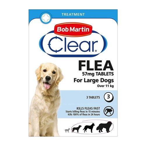 (Large Dogs Over 11kg) Bob Martin Clear Cat & Dog Flea Tablets