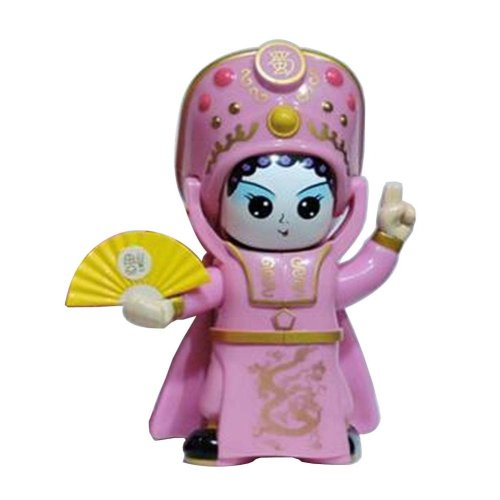 Creative Chinese Opera Face Changing Doll Sichuan Opera Figure Toy, Pink
