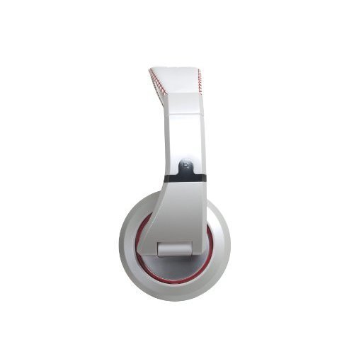 The Sessions Professional Closed Back Studio Headphones by CAD Audio White with Red