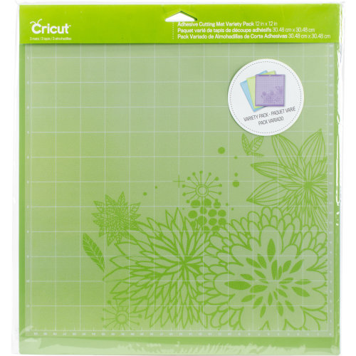 "Cricut Adhesive Back Cutting Mats 12""X12"" 3/Pkg-Green, Blue & Purple"