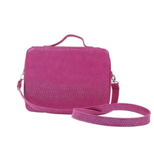 Picnic Gift 7166-PK Cosmopolitan Insulated Adjustable Make Up Travel Organizer, Pink Reptilian