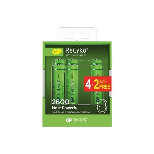 GP Recyko+ NiMH Rechargeable Batteries