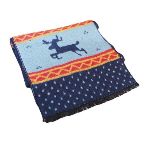 Warm Baby Scarf Parent-Child Cashmere Winter Tassels Scarf Elk Pattern