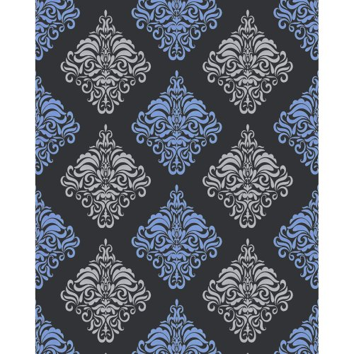 EDEM 85024BR22 Baroque wallcovering wall metallic highlights anthracite 5.33 m2