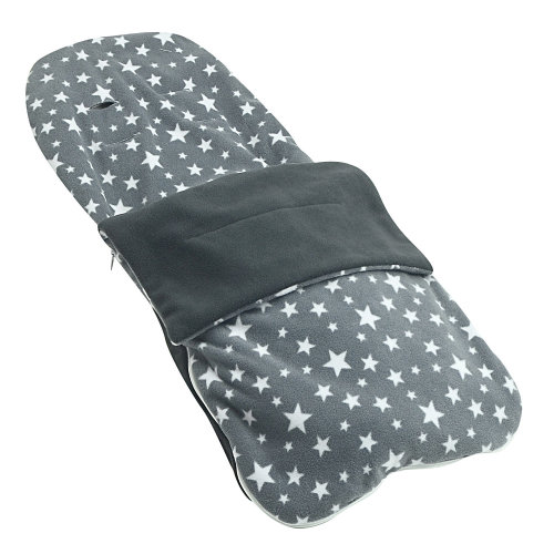 Snuggle Summer Footmuff Compatible With Silver Cross Pioneer - Grey Star