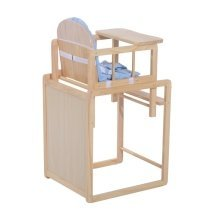 Homcom Baby Feeding Highchair Multi-function Nursery Dinning Chair and Table W/ Cushion