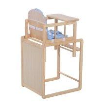 Homcom Baby Feeding Highchair Multi-function Nursery Dinning Chair and Table W/ Cushion