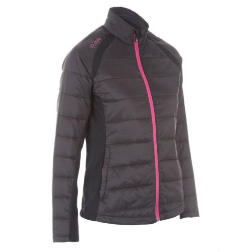 ProQuip Alexis Full Zip Ladies Therma Tour Quilted Jacket Black X-Small