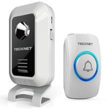 Wireless Doorbell, TeckNet Dual-Power Cordless Door Chime